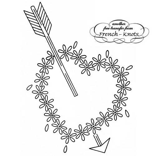 daisy heart with arrow