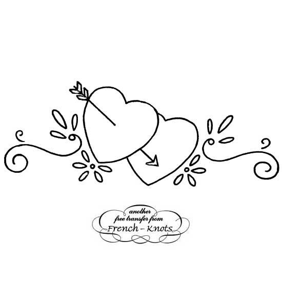 double hearts with arrow