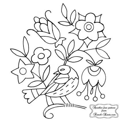 dutch bird and flowers