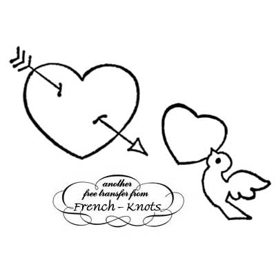 heart with arrow and dove