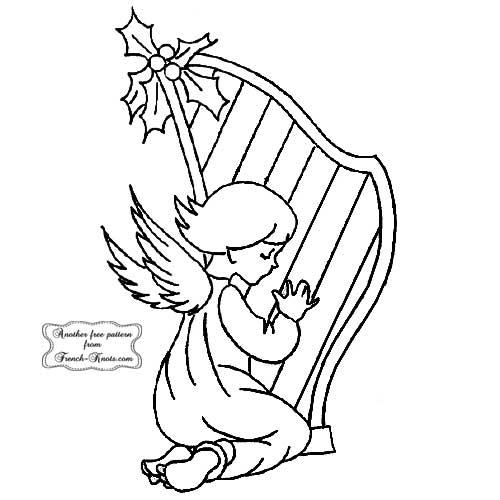 angel and harp