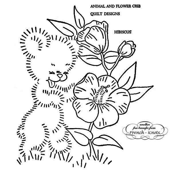 floral set - baby bear
