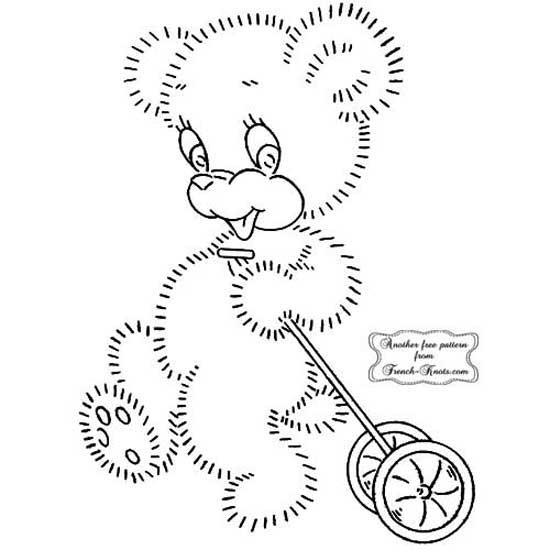 bear pulltoy - fuzzy set of 3