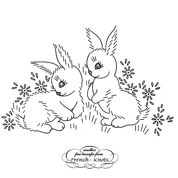bunnies and daisies