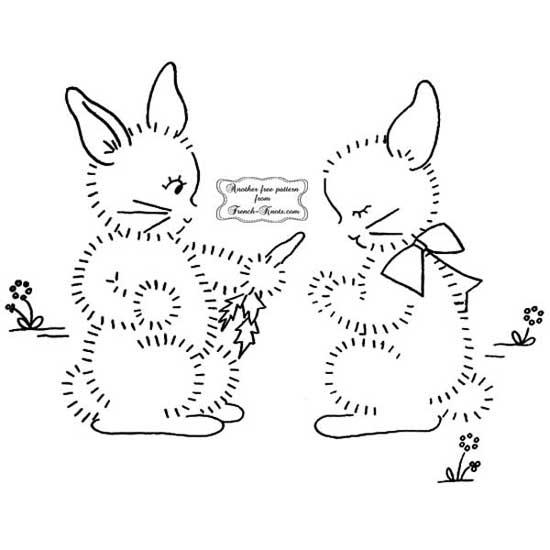 bunnies sharing a carrot