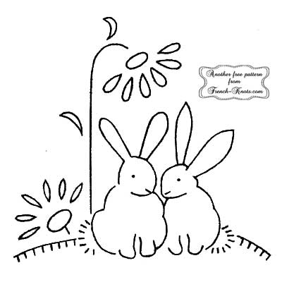rabbits and flower