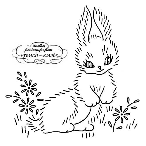 bunny and daisies