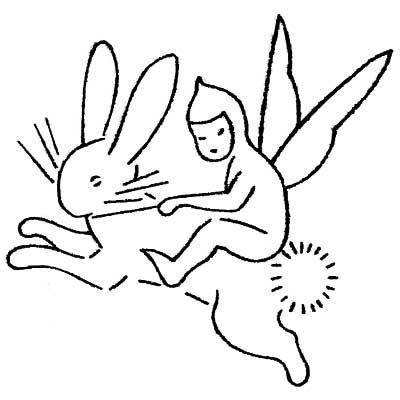 elf on a rabbit