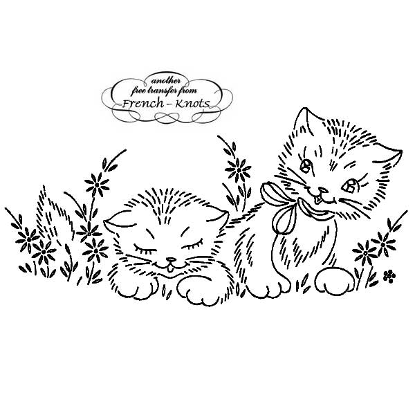 kittens and daisies