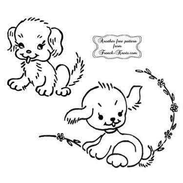 puppies - small motifs