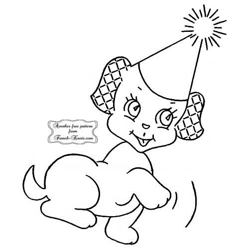puppy set - party hat