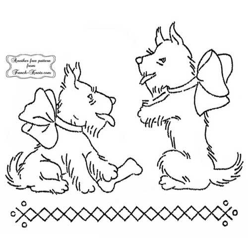 scottie dogs begging