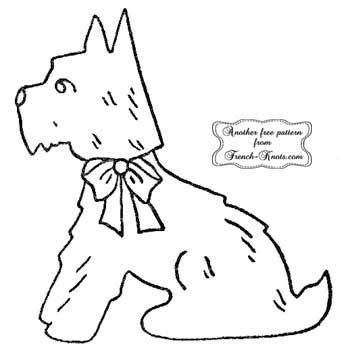 scottie dog with bow